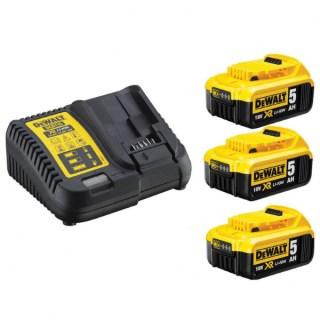 DeWALT DCB115P3-QW – XR 10.8-18V akkumulátor töltő + 3 x 5.0Ah Akku Kit Minden termék
