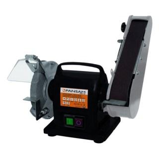DEDRA-PANSAM Köszörűkorongos és szalagcsiszoló asztali köszörű 200W, 150x20x12,7, szalagméret 50×686, elektromágneses biztonsági kapcsoló Minden termék