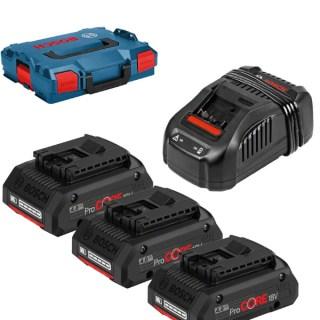 BOSCH ProCore akkucsomag 3x18V 4.0Ah GAL1880 CV L-boxx kofferben Minden termék