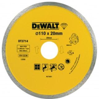 DeWALT DT3715-QZ Vizes-száraz Gyémánt vágótárcsa – 110 x 20 x 8 mm ( DWC410-hez ) Minden termék