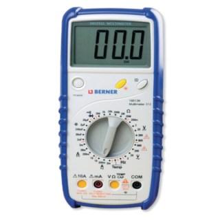 BERNER Digitális multiméter III, 600 V hőmérővel Multiméter
