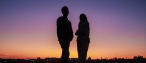 couple in sunset