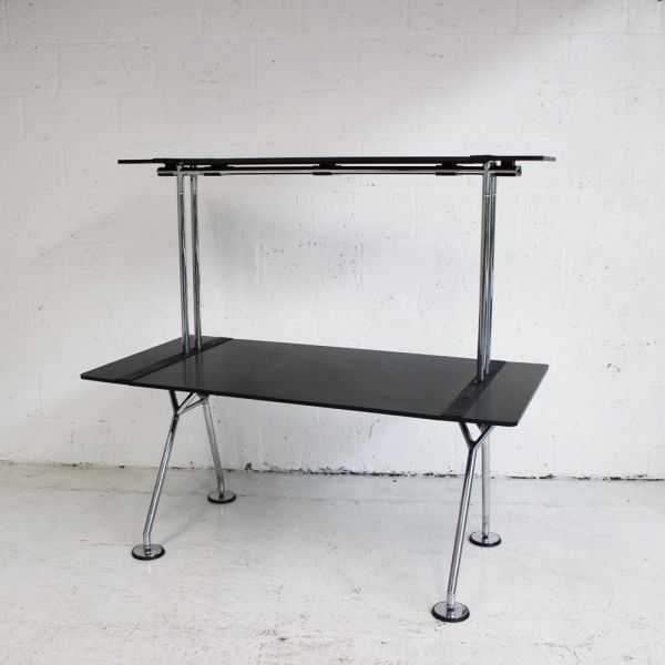 Original Nomos Black Desk   Tecno desk   norman foster desk