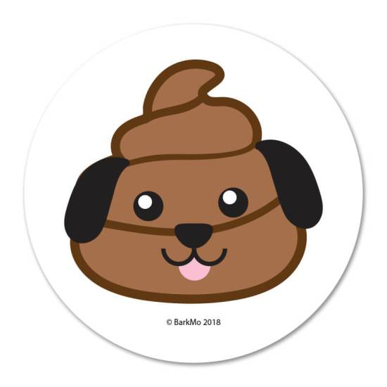 Dog Poop Emoji - Round Magnet