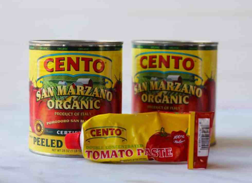 san marzano canned tomatoes and tomato paste
