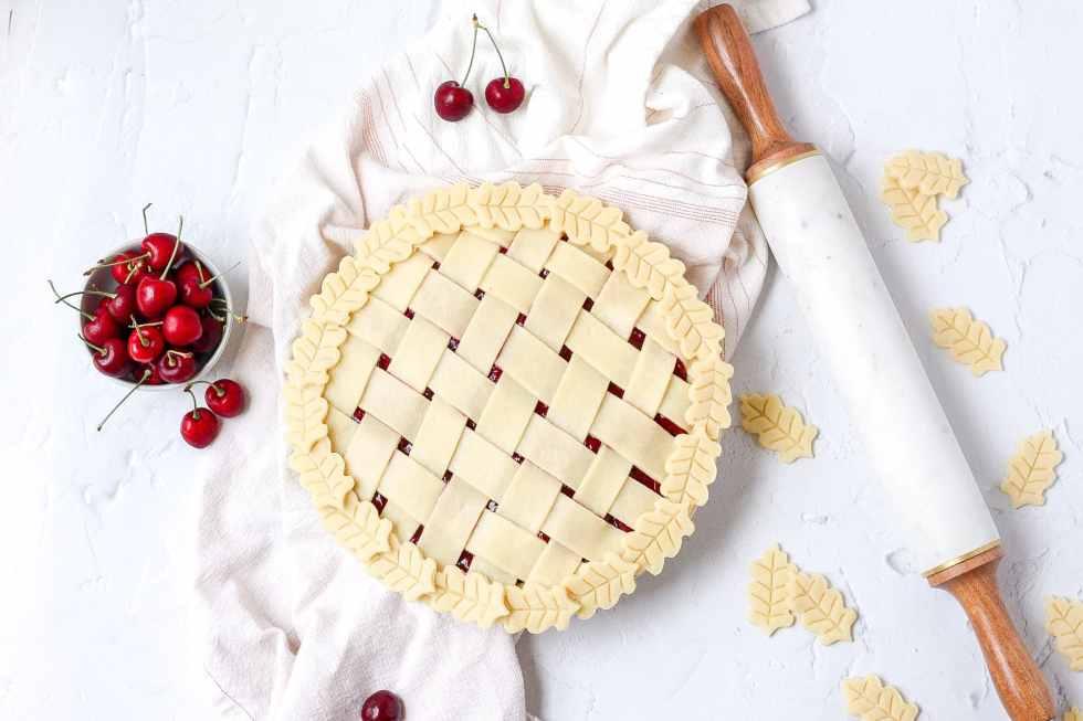Cherry pie before baking