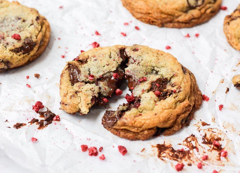 dark chocolate raspberry sugar cookies