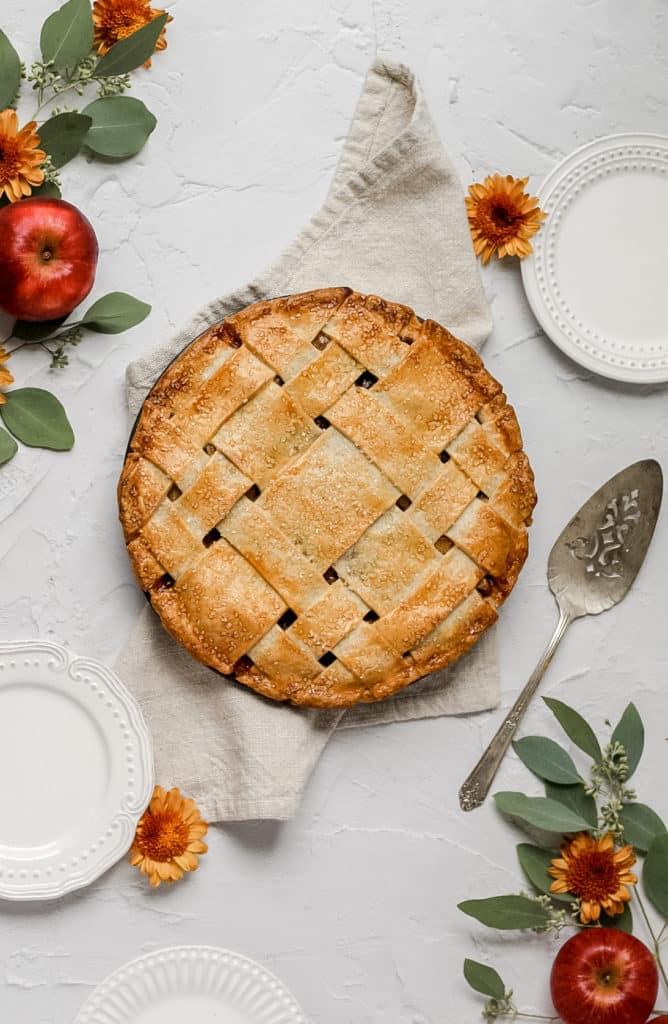 The best ever apple pie with lattice crust