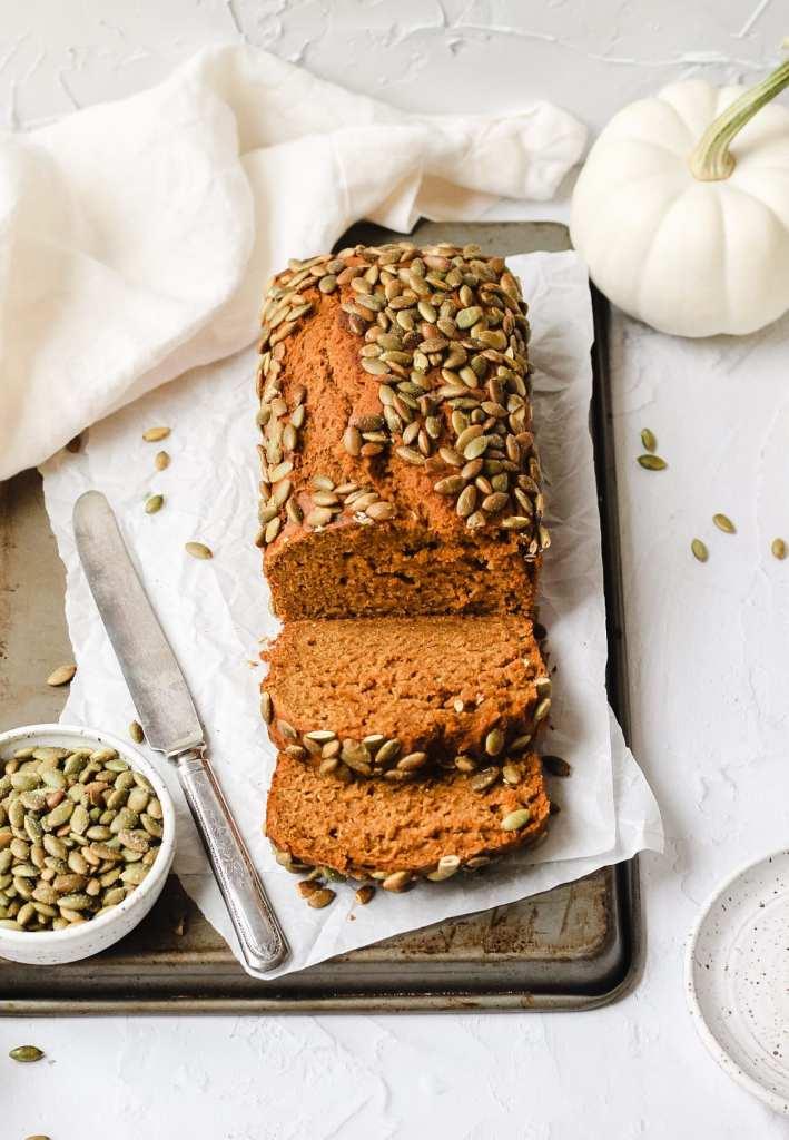 sourdough pumpkin bread with pumpkin seeds