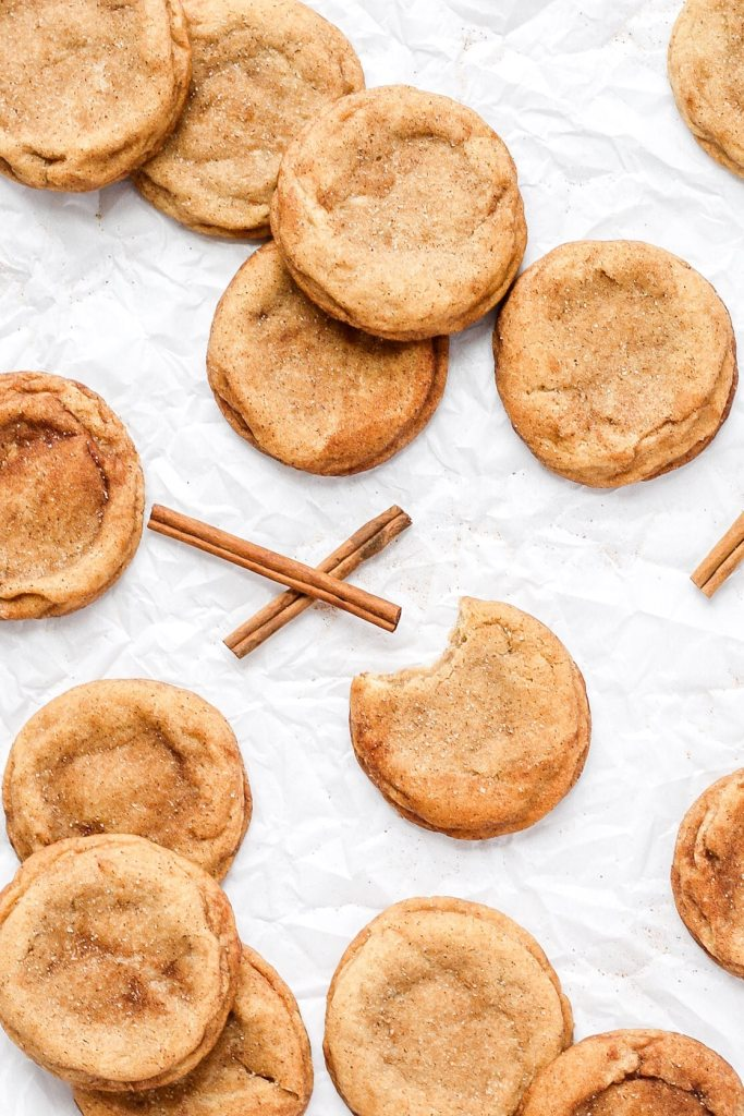 brown butter snickerdoodles with cinnamon sticks