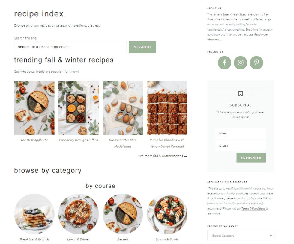 cook'd pro recipe index example