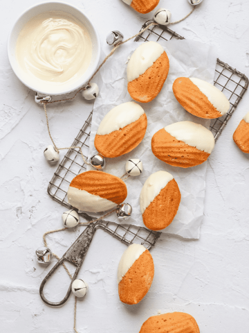 white chocolate madeleines