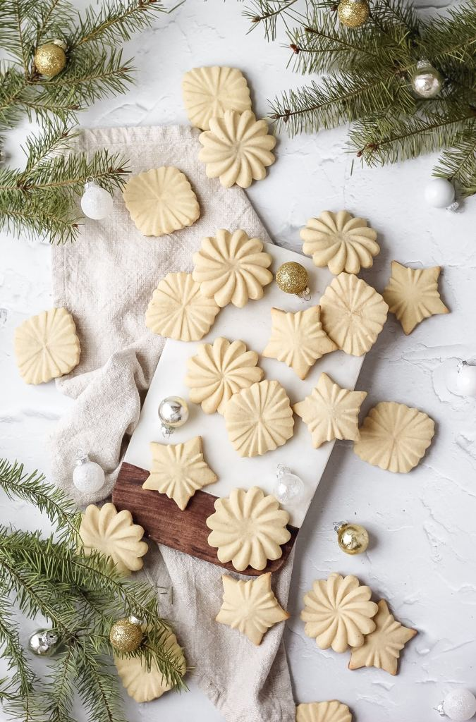 brown butter stamp cookies