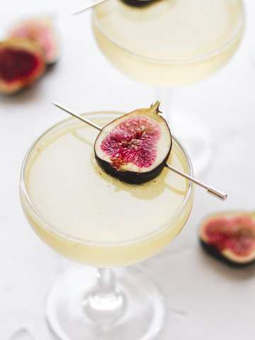 sparkling fig cocktail