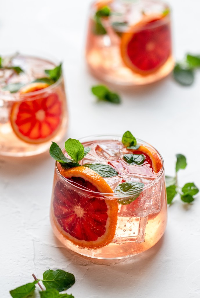 blood orange thyme moscow mule