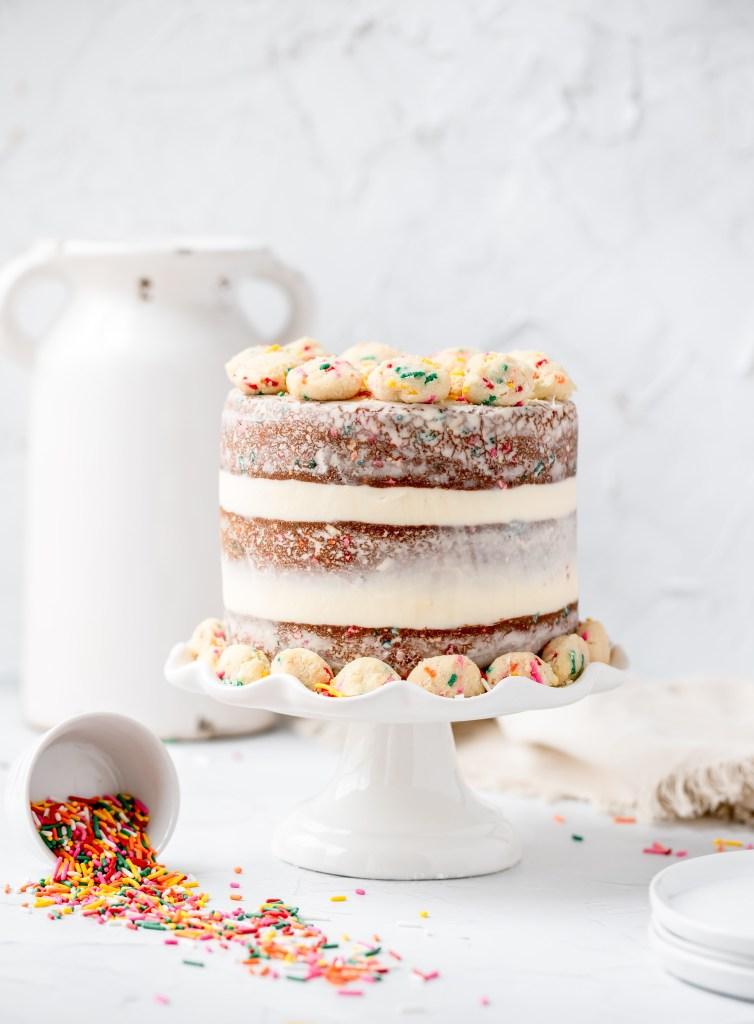 funfetti birthday cake. milk bar copycat