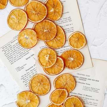 close up shot of dehydrated orange slices