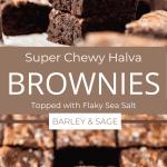 chewy halva brownies pin