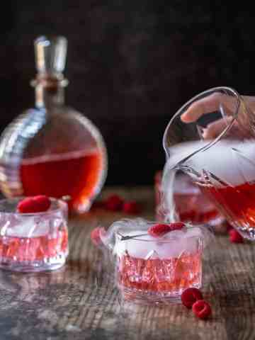 love potion cocktail with dry ice