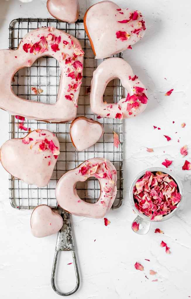 heart shaped donuts in different sizes
