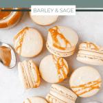 salted caramel macarons pin