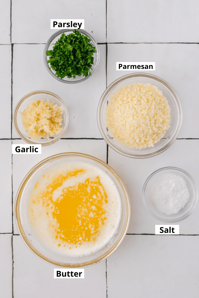 garlic butter labeled ingredients