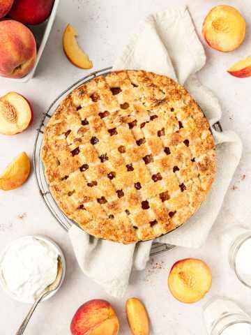 bourbon peach pie