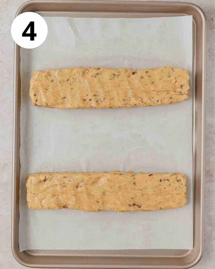 biscotti logs before baking