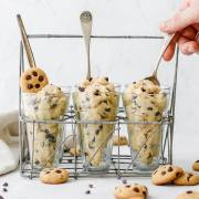 close up shot of edible cookie dough