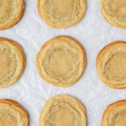 close up shot of brown butter sugar cookies