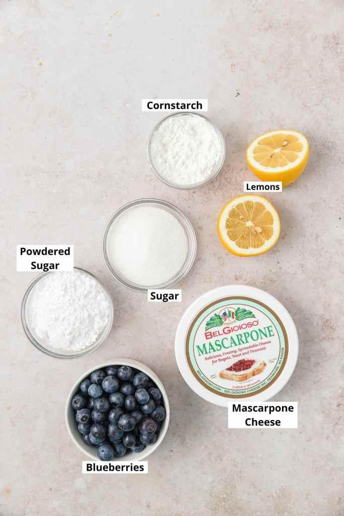 blueberry mascarpone filling ingredients