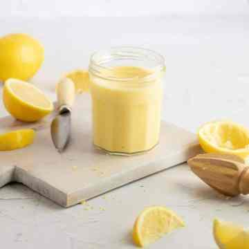 close up shot of homemade lemon curd