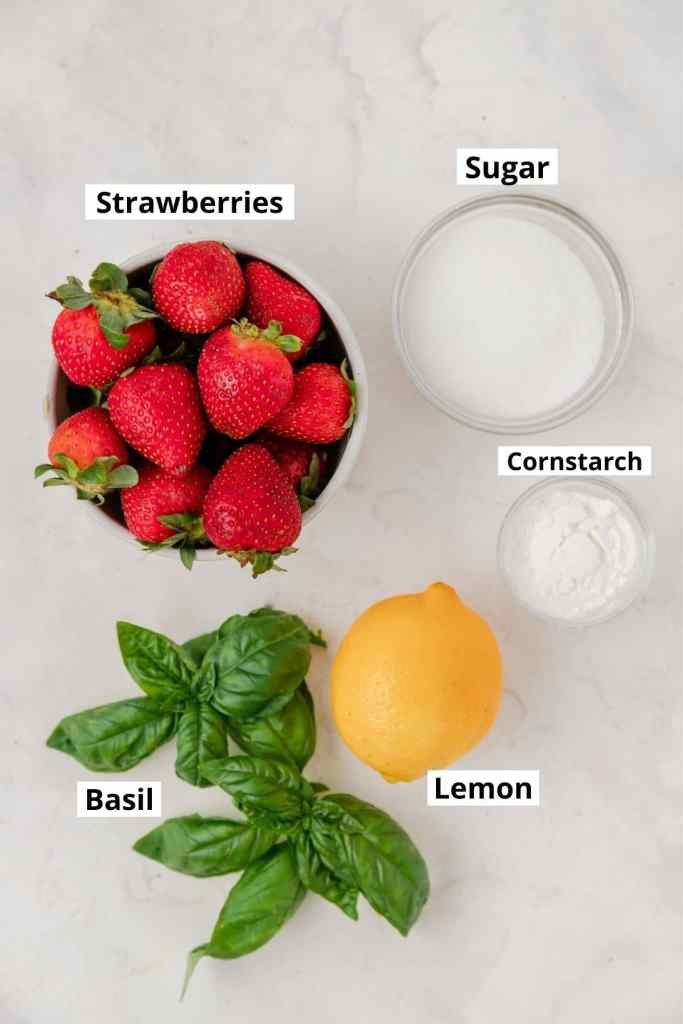 strawberry galette labeled ingredients