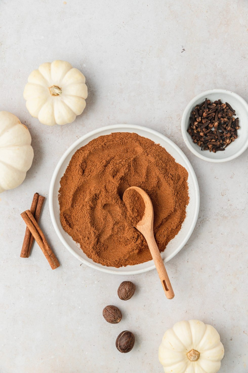 homemade pumpkin pie spice on plate
