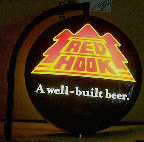 Red Hook Illuminated Double Sided Pub Light