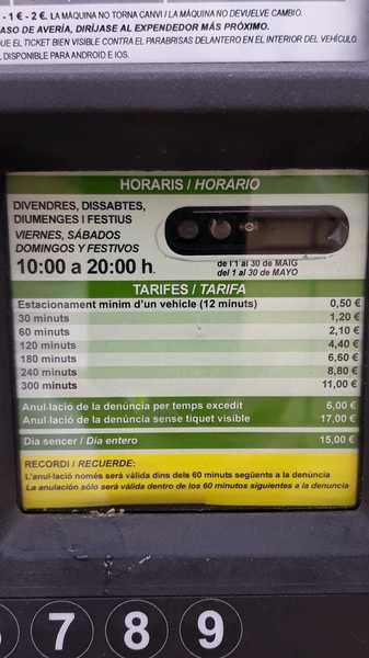 precios de la zona verde en Castelldefels