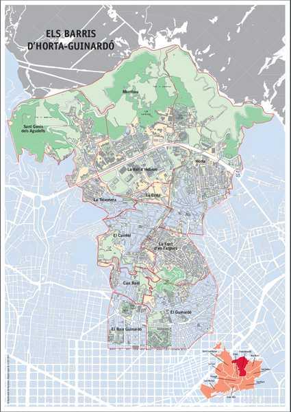 Mapa del Distrito de Horta