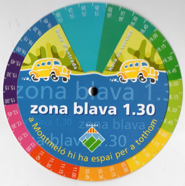 Disco horario de 1.30 de Montmeló