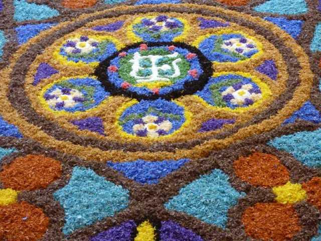 Detalle de la alfombra de Sant Ramon de Penyafort