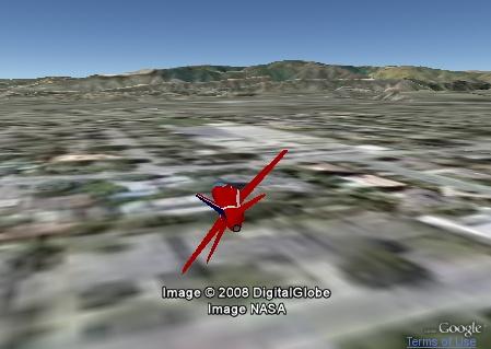 Hawk in Google Earth