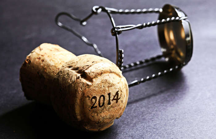 New Year's champagne cork