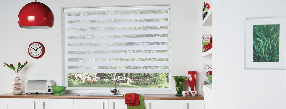 Vision Blinds for the kitchen room from Barnes Blinds in Stoke-on-Trent