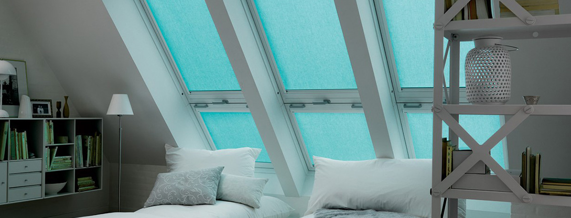 Black out skylight blinds from Barnes Blinds in Stoke-on-Trent