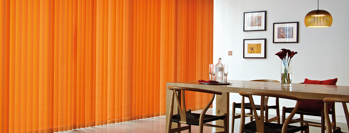 Colourful Lounge Vertical Blinds