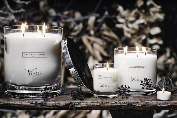the white company christmas candle