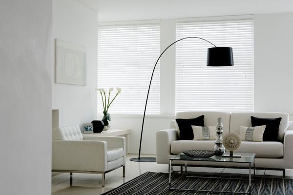 wooden blinds - gloss white sunwood