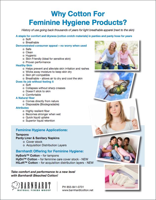 cotton in feminine hygiene products | barnhardt cotton