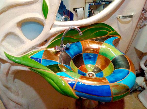 Keramik Waschbecken Mosaik