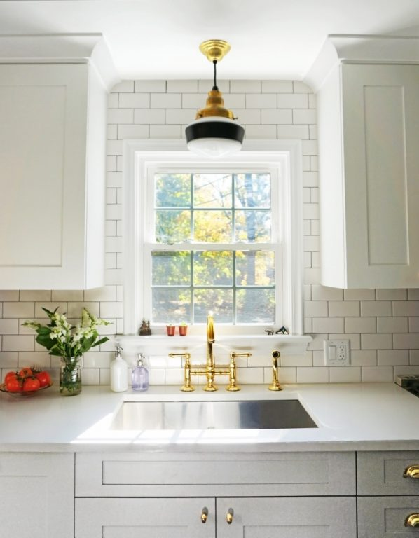 how to light up the kitchen sink with