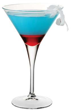 Red, White, and HPNOTIQ Blue Martini Martini Photo